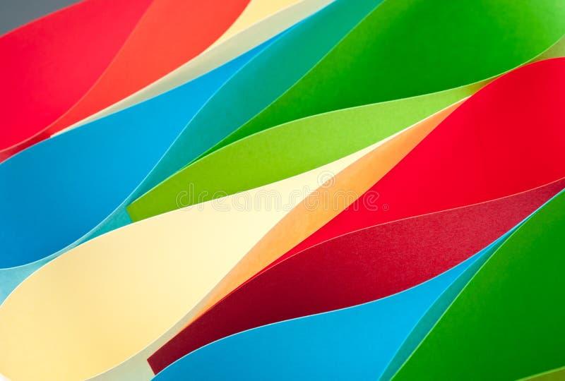 Ondes colorées de papier photo libre de droits