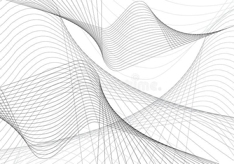 Ondes d'abstrait illustration stock