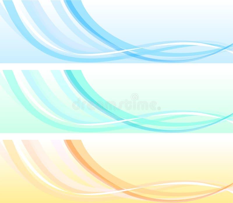 Ondes d'abstrait illustration de vecteur