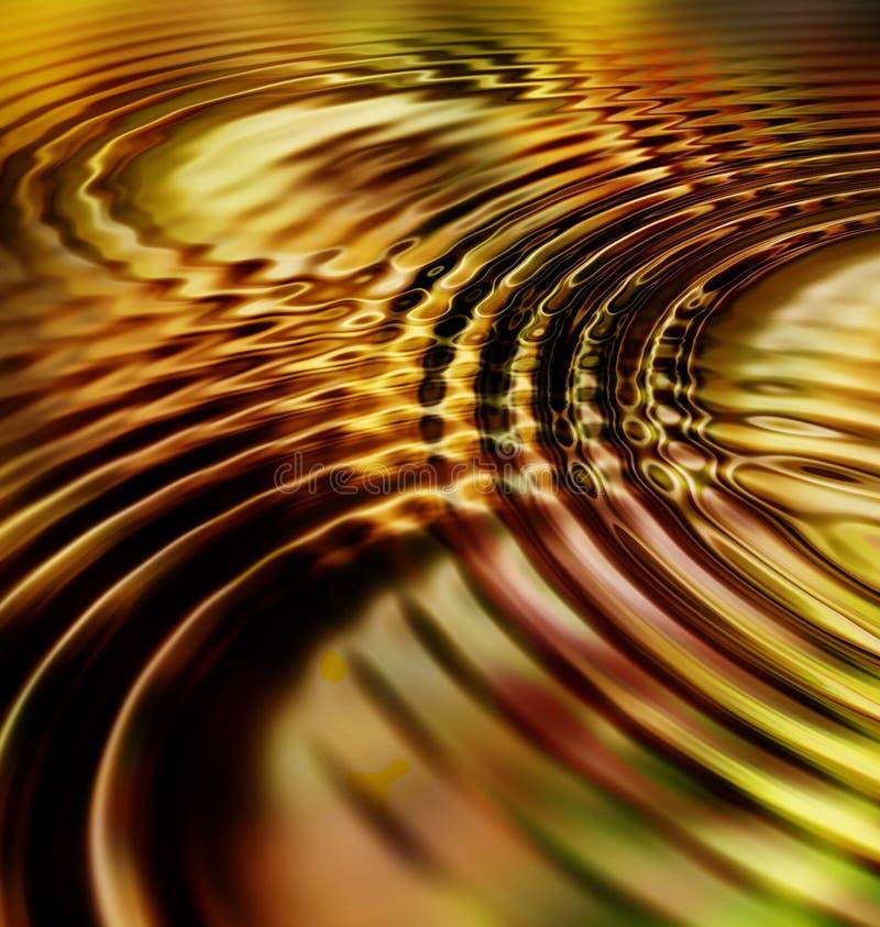 Ondes d'or d'ondulation de lame illustration de vecteur