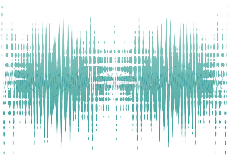 Ondes de bruit illustration libre de droits