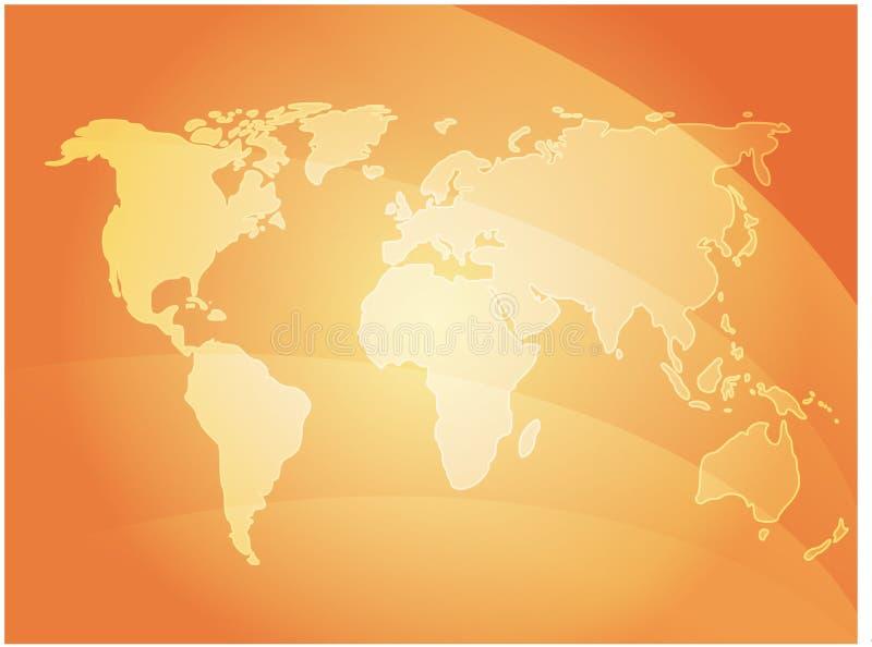 Ondes de carte du monde illustration libre de droits