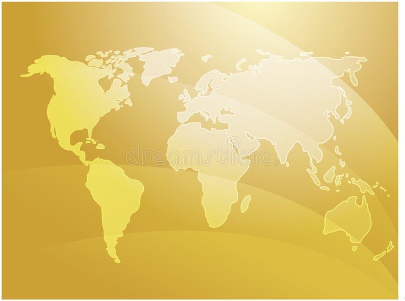 Ondes de carte du monde illustration de vecteur