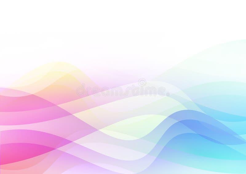 Ondes de couleur illustration libre de droits