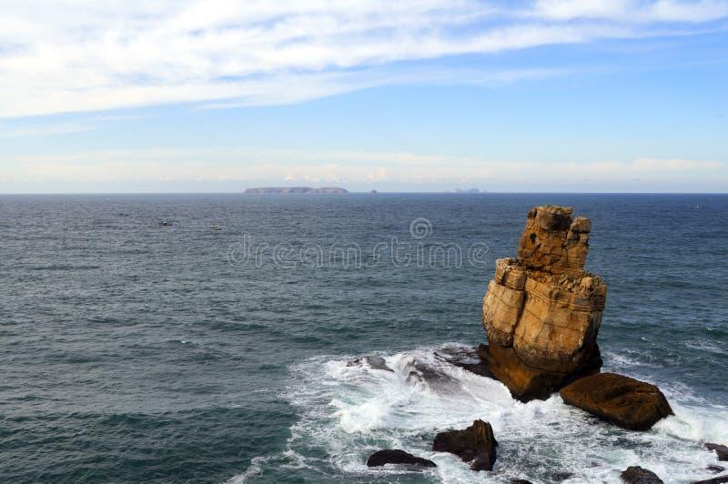 ondes de mer agitée images libres de droits