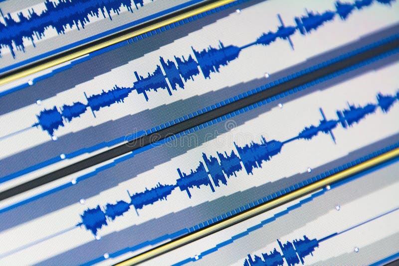 Ondes de musique images libres de droits
