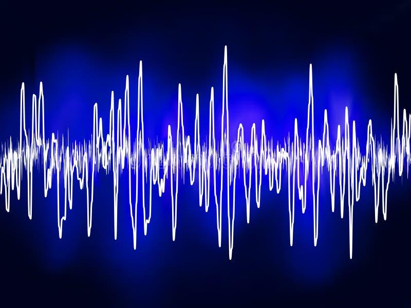 Ondes de sonore électroniques ou d'acoustique de sinus. ENV 8 illustration de vecteur