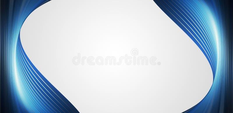 ondes du bleu deux illustration stock