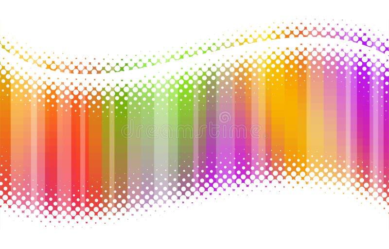 Ondes multicolores tramées abstraites illustration libre de droits