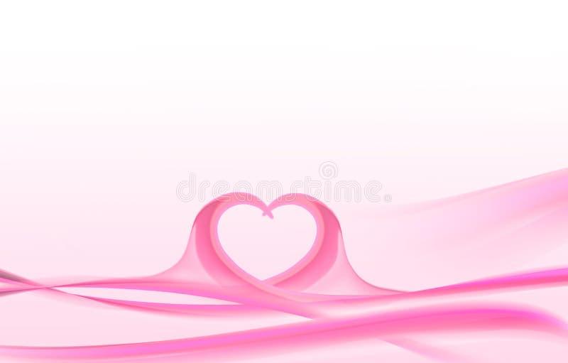 Ondes roses de valentines illustration stock