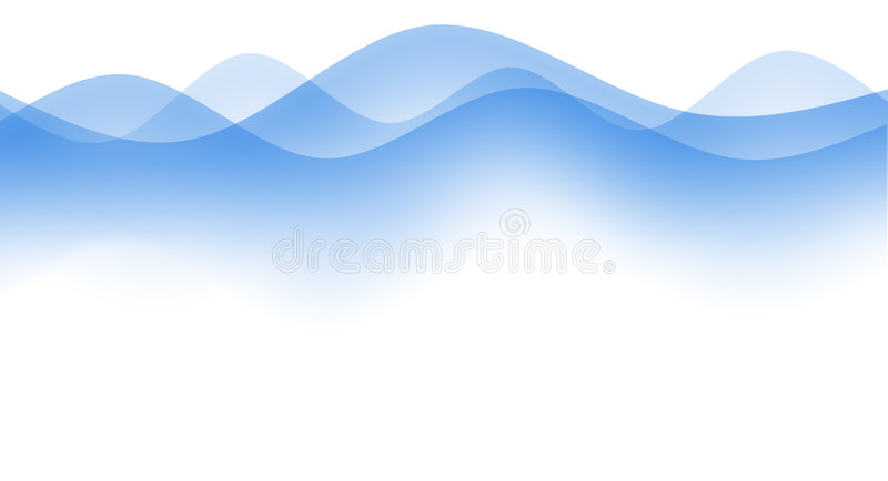 Ondes simples illustration stock