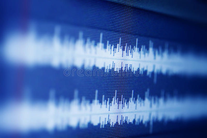 Ondes sonores photographie stock