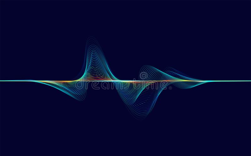 Ondes sonores abstraites illustration stock