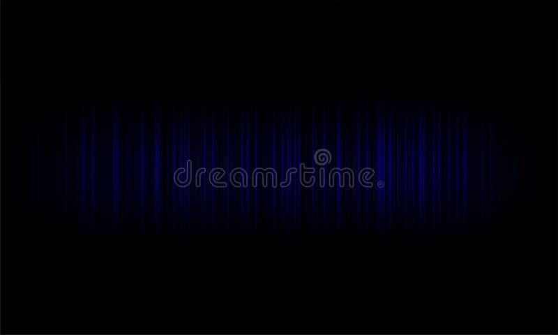 Ondes sonores audio d'égaliseur de Digital sur le fond noir, signal stéréo d'effet sonore illustration de vecteur