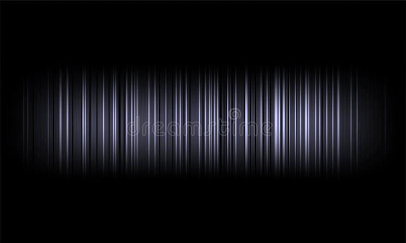 Ondes sonores audio d'égaliseur de Digital sur le fond noir, signal stéréo d'effet sonore illustration stock