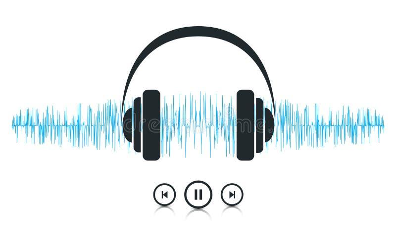 Ondes sonores de musique illustration stock