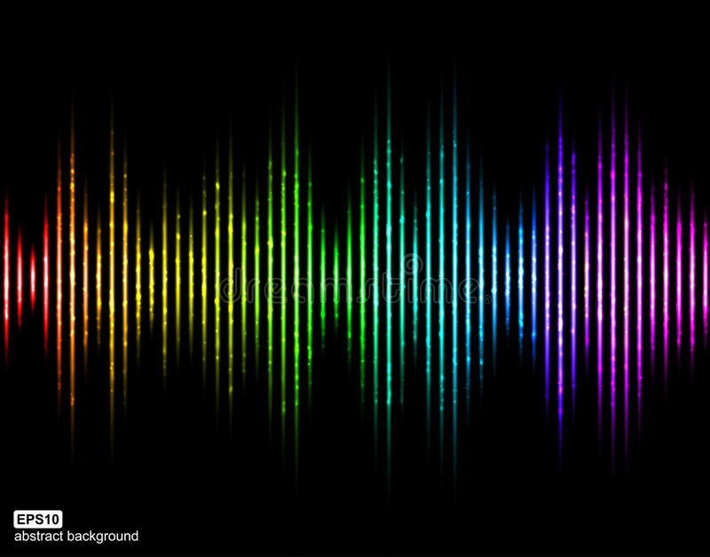 Ondes sonores de vecteur Égaliseur de Digital de musique illustration libre de droits