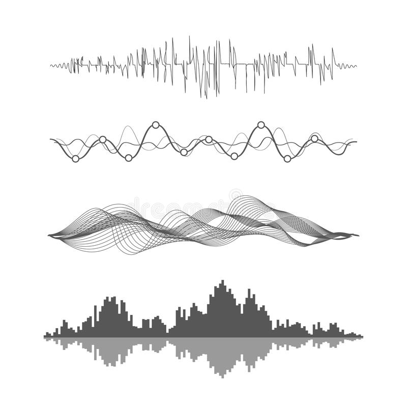 Ondes sonores de vecteur illustration stock