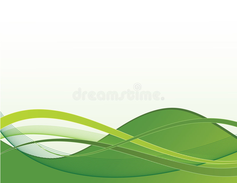 Ondes vertes illustration stock