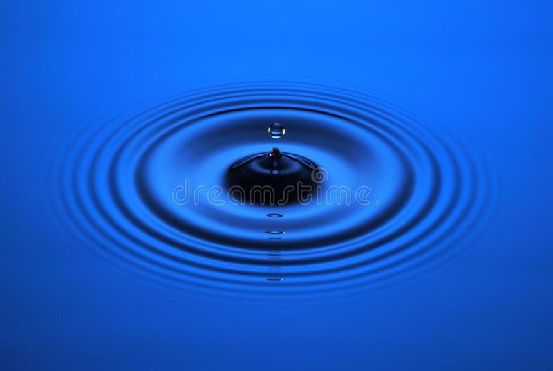Ondinha da gota da água fotografia de stock