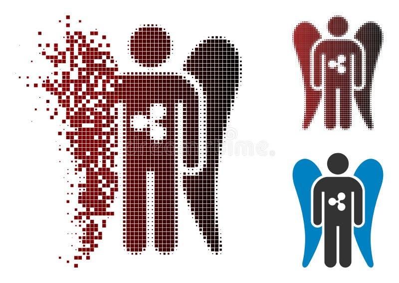 Ondinha de intervalo mínimo dissolvida Angel Investor Icon do pixel ilustração stock