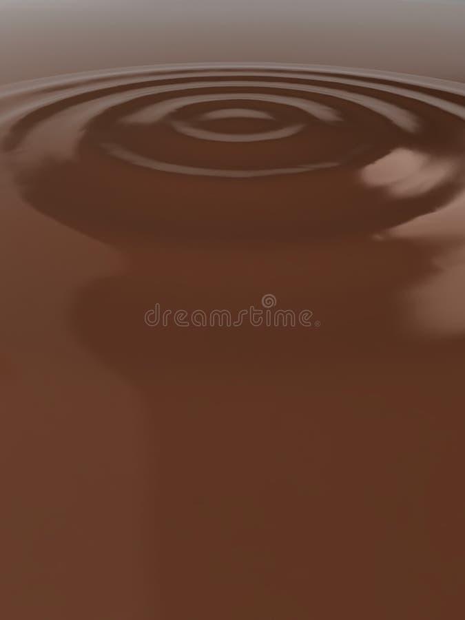 Ondinhas líquidas do chocolate ilustração stock