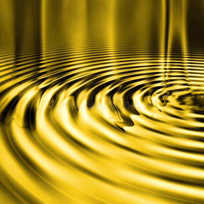Ondinhas líquidas do ouro ilustração do vetor
