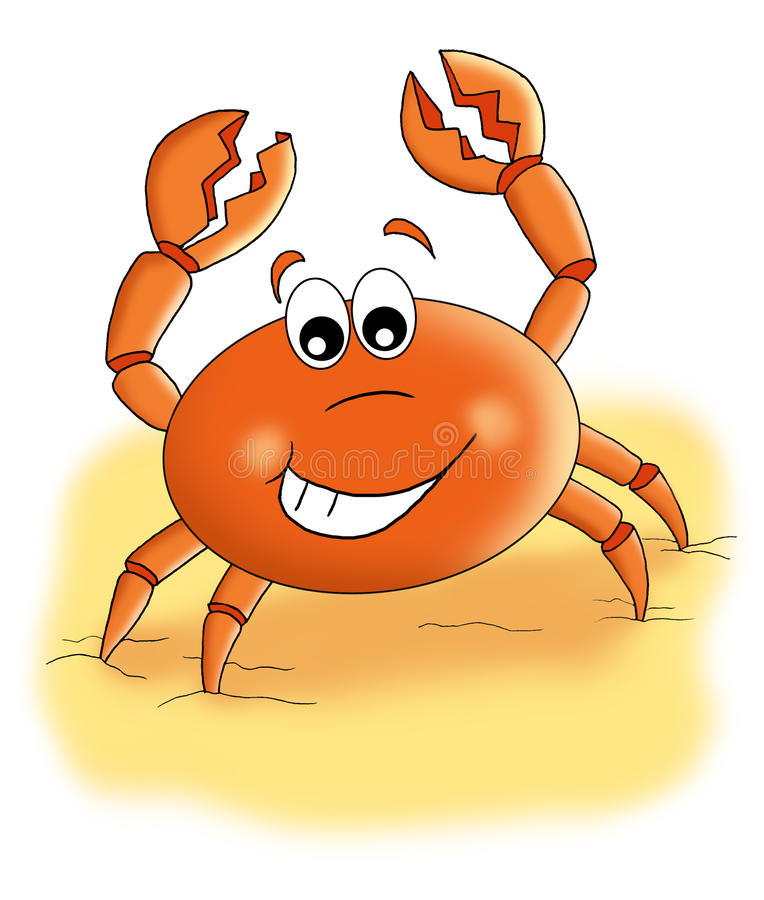 ondskefull krabba royaltyfri illustrationer