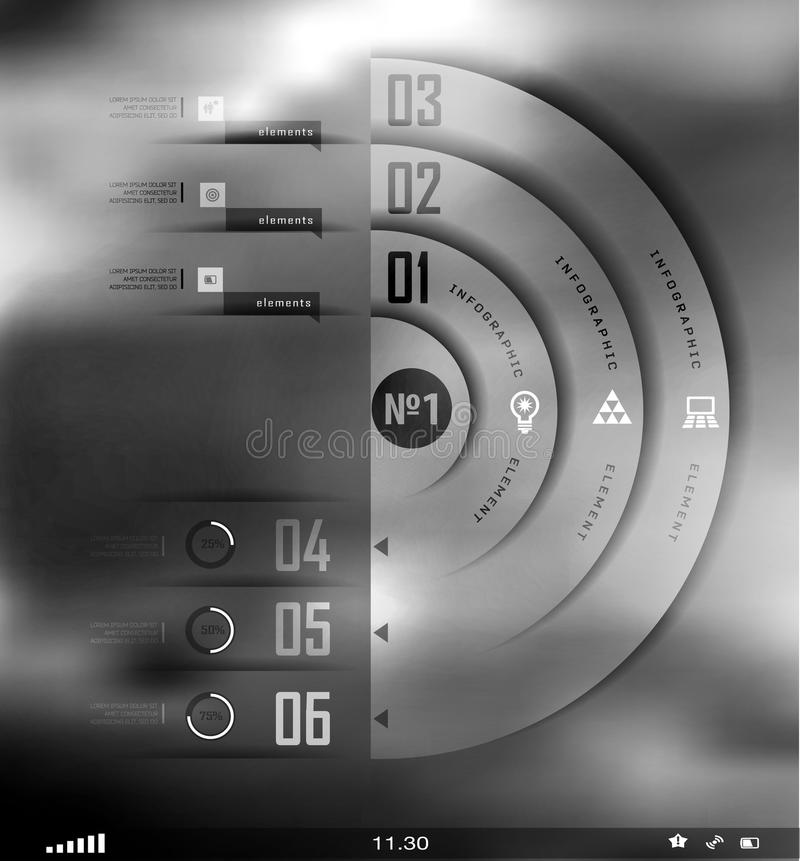 Onduidelijk beeld bedrijfs transparante stap en schaduwenopties vector illustratie
