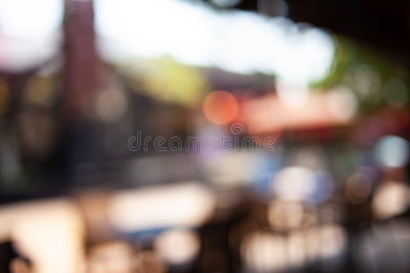 Onduidelijk beeld bokeh lichte achtergrond bij nacht stock afbeeldingen