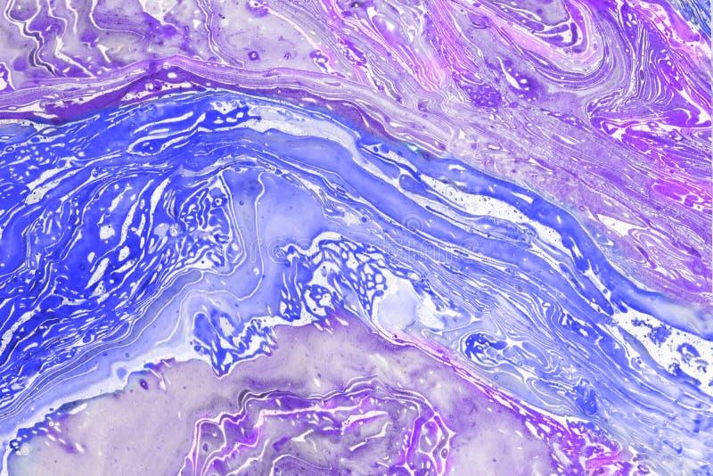 Onduidelijk beeld die blauw-violette textuur marmeren als creatieve achtergrond royalty-vrije stock afbeelding