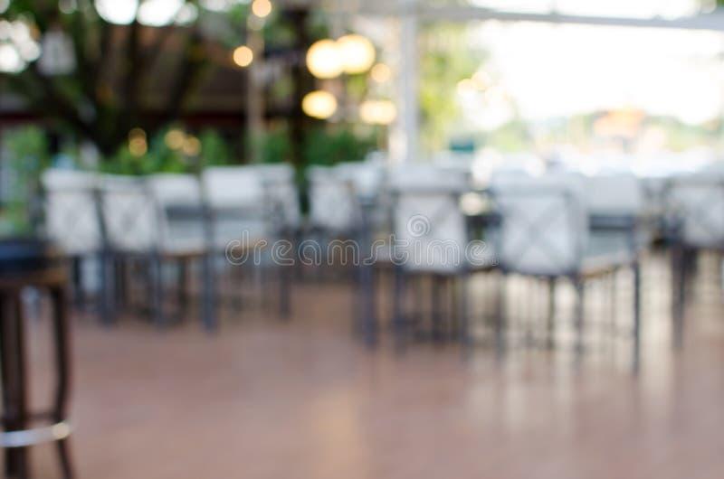 Onduidelijk beeld het dineren stoel royalty-vrije stock foto