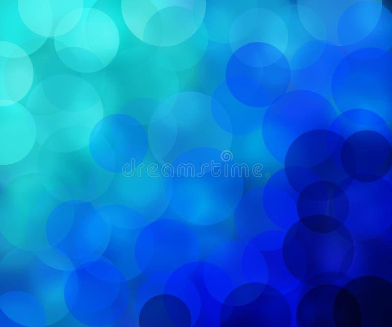 Onduidelijk beeld in koude blauwe kleuren stock afbeelding