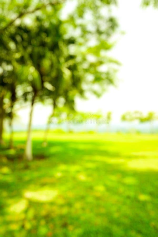 Onduidelijk beeldpark met de bokeh lichte achtergrond, aard, tuin, lente en zomer royalty-vrije stock foto's
