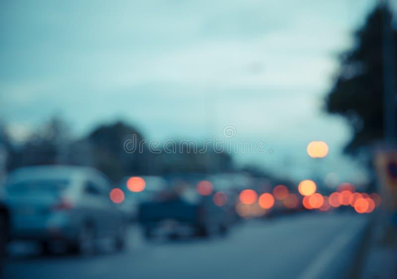 onduidelijk beeldstraat bokeh met kleurrijke lichten royalty-vrije stock afbeelding
