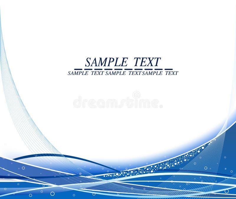 ondulé bleu de fond abstrait illustration de vecteur