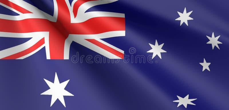 Ondulação australiana da bandeira ilustração stock