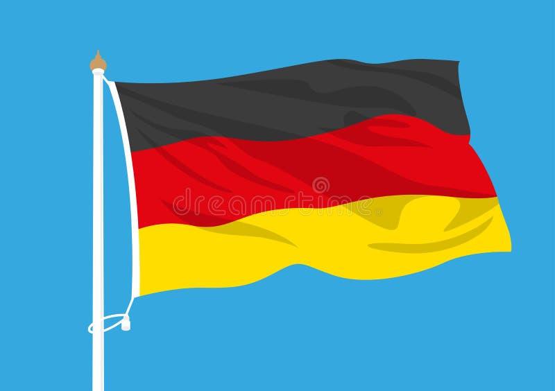 Ondulação da bandeira de Alemanha ilustração do vetor