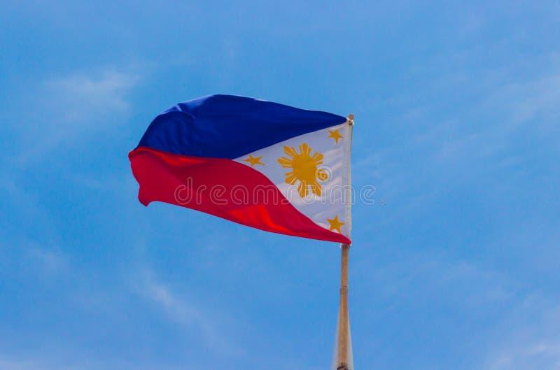 Ondulação da bandeira de Filipinas imagem de stock