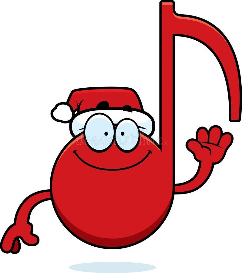 Ondulação da música do Natal dos desenhos animados ilustração stock