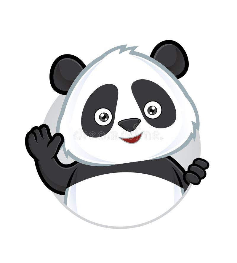 Ondulação da panda ilustração stock