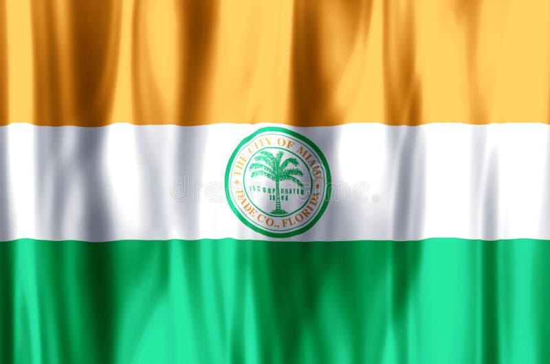 Ondulação de Miami florida e ilustração coloridas da bandeira do close up ilustração royalty free