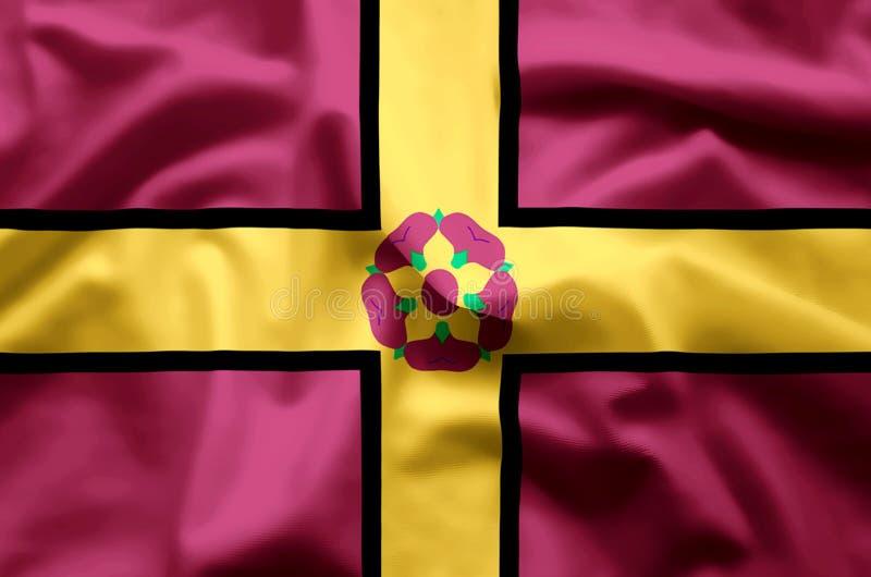 Ondulação de Northamptonshire e ilustração coloridas da bandeira do close up ilustração royalty free