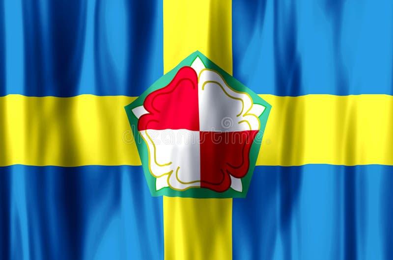 Ondulação de Pembrokeshire e ilustração coloridas da bandeira do close up ilustração do vetor