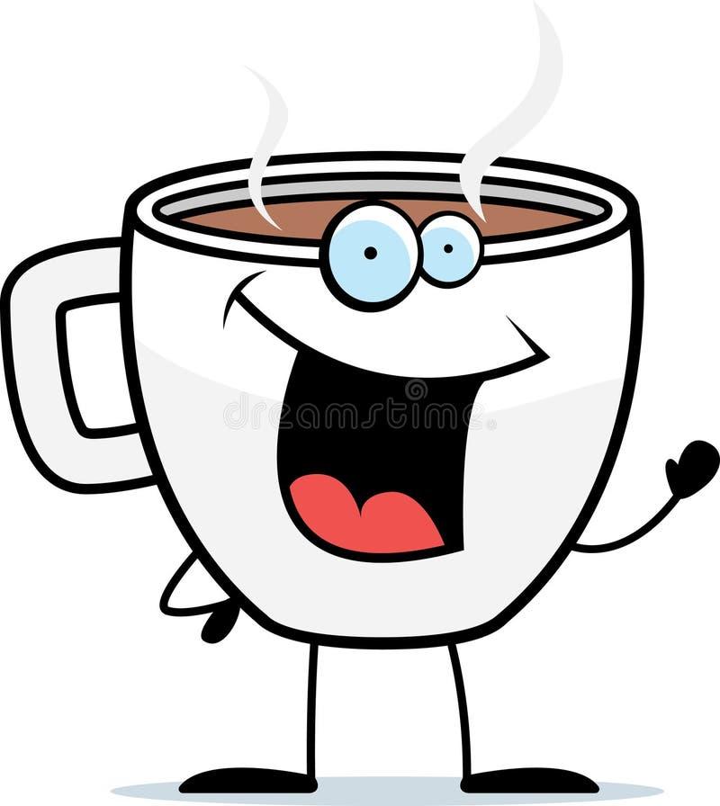 Ondulação do café ilustração royalty free