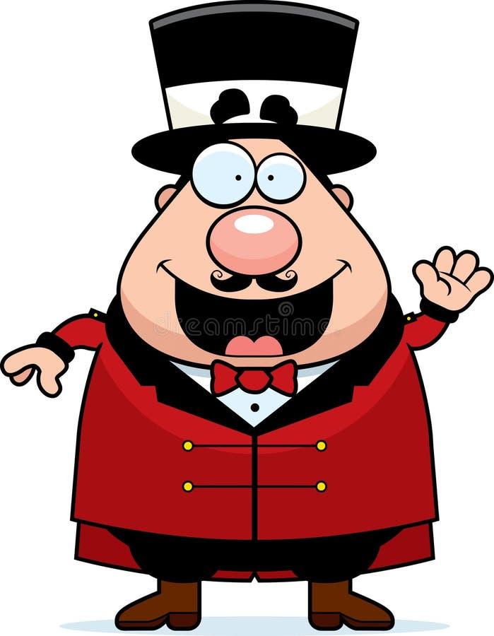Ondulação do diretor do circo do circo dos desenhos animados ilustração royalty free