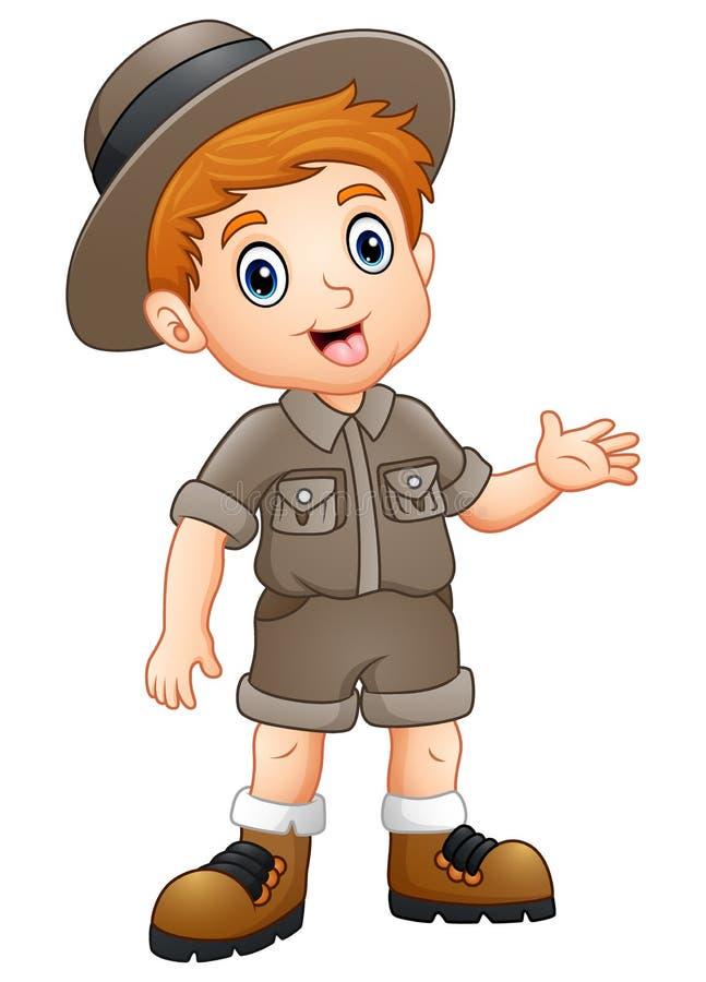 Ondulação do explorador do menino ilustração stock