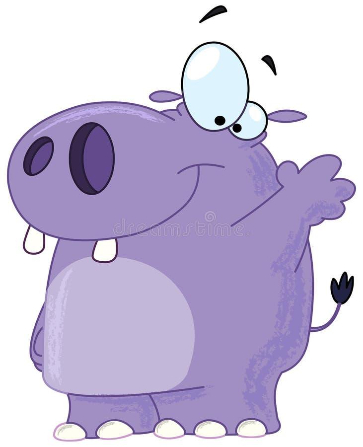 Ondulação do hipopótamo ilustração royalty free