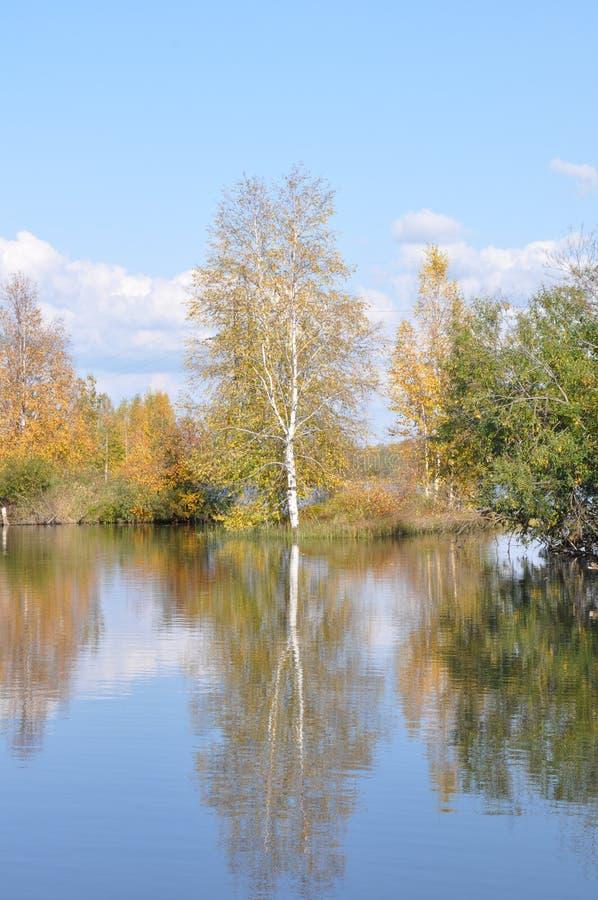 Ondulación permanente Krai El río Kama fotografía de archivo libre de regalías