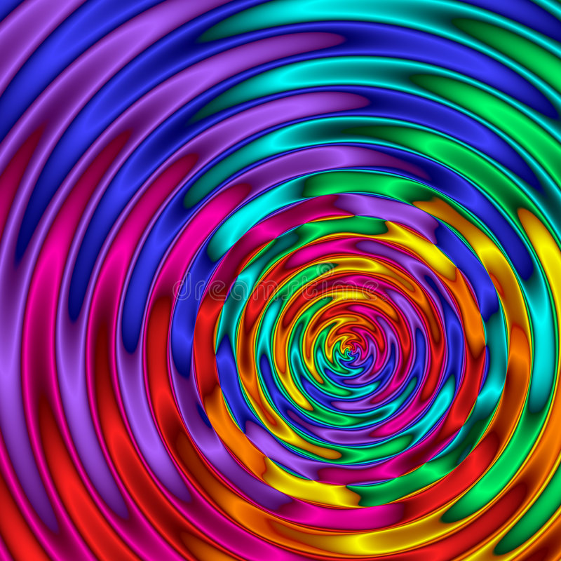Ondulaciones del arco iris libre illustration
